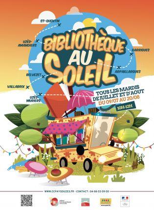 Bibliothèque au soleil à Garrigues Sainte Eulalie