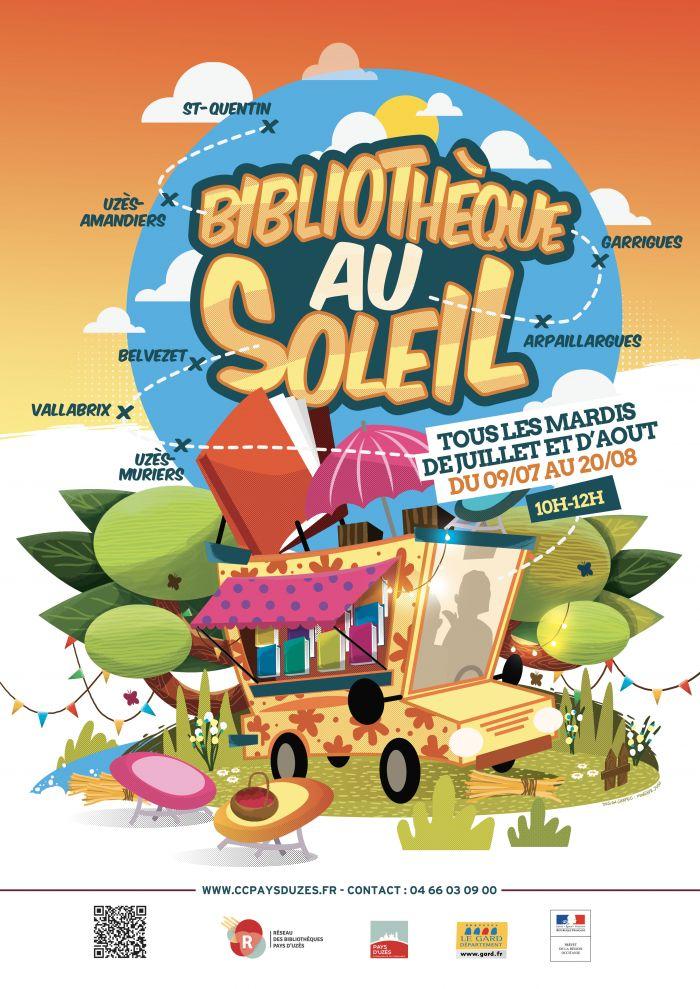 Bibliothèque au soleil à Arpaillargues et Aureilhac