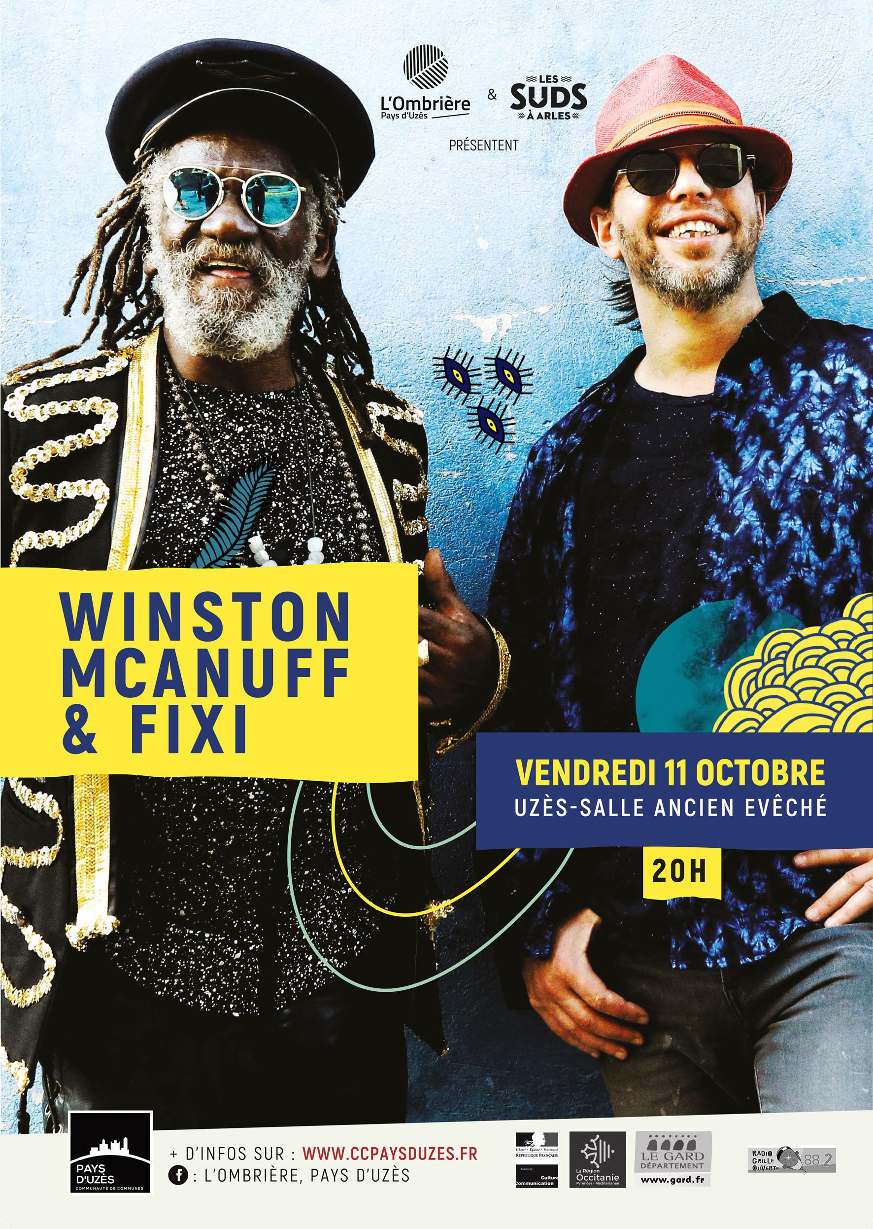 Concert Winston McAnuff & Fixi + 1ere Partie : Bongi