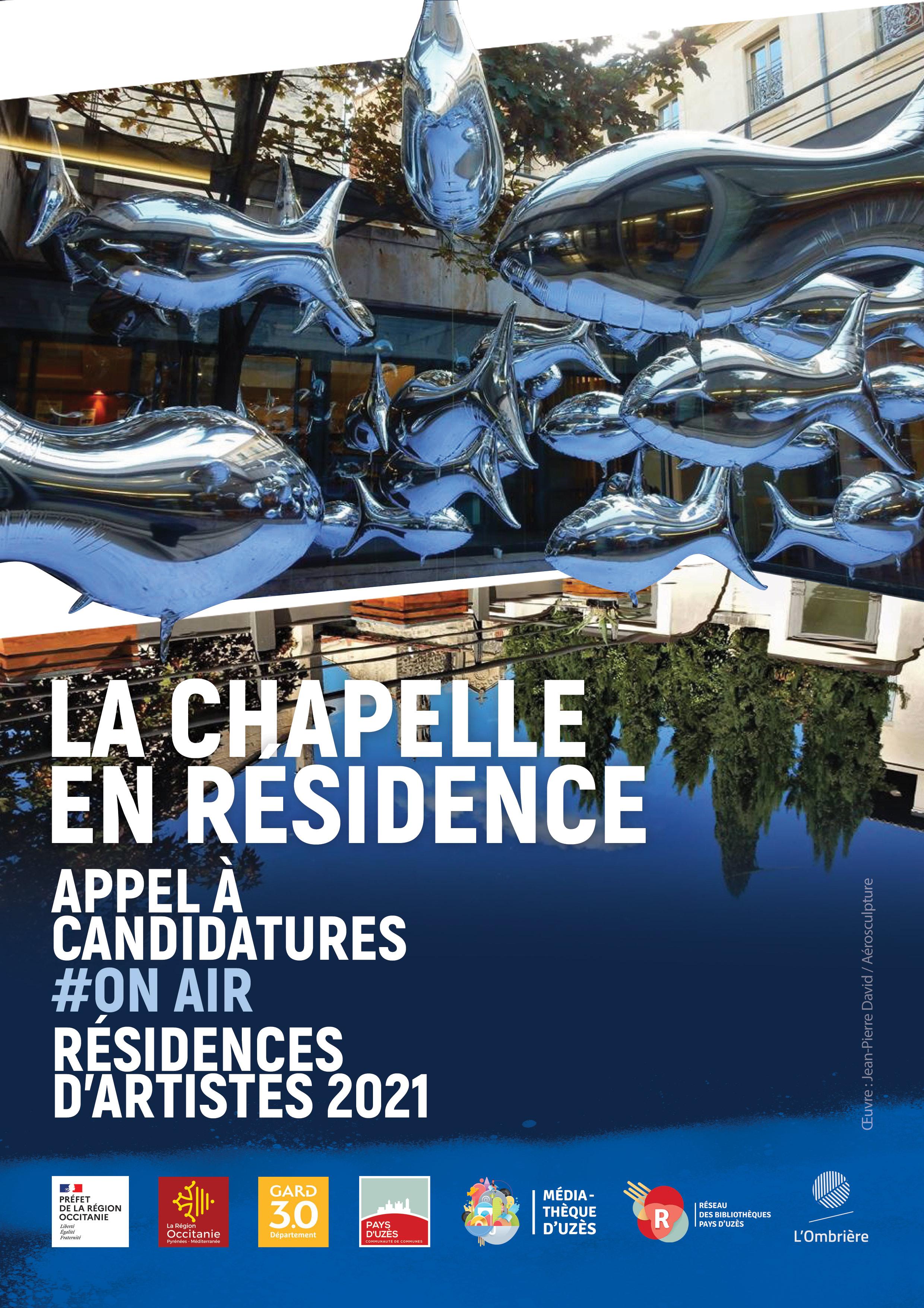 Appel à candidatures 2021 - Résidences d'Artistes - Chapelle de la médiathèque d'Uzès
