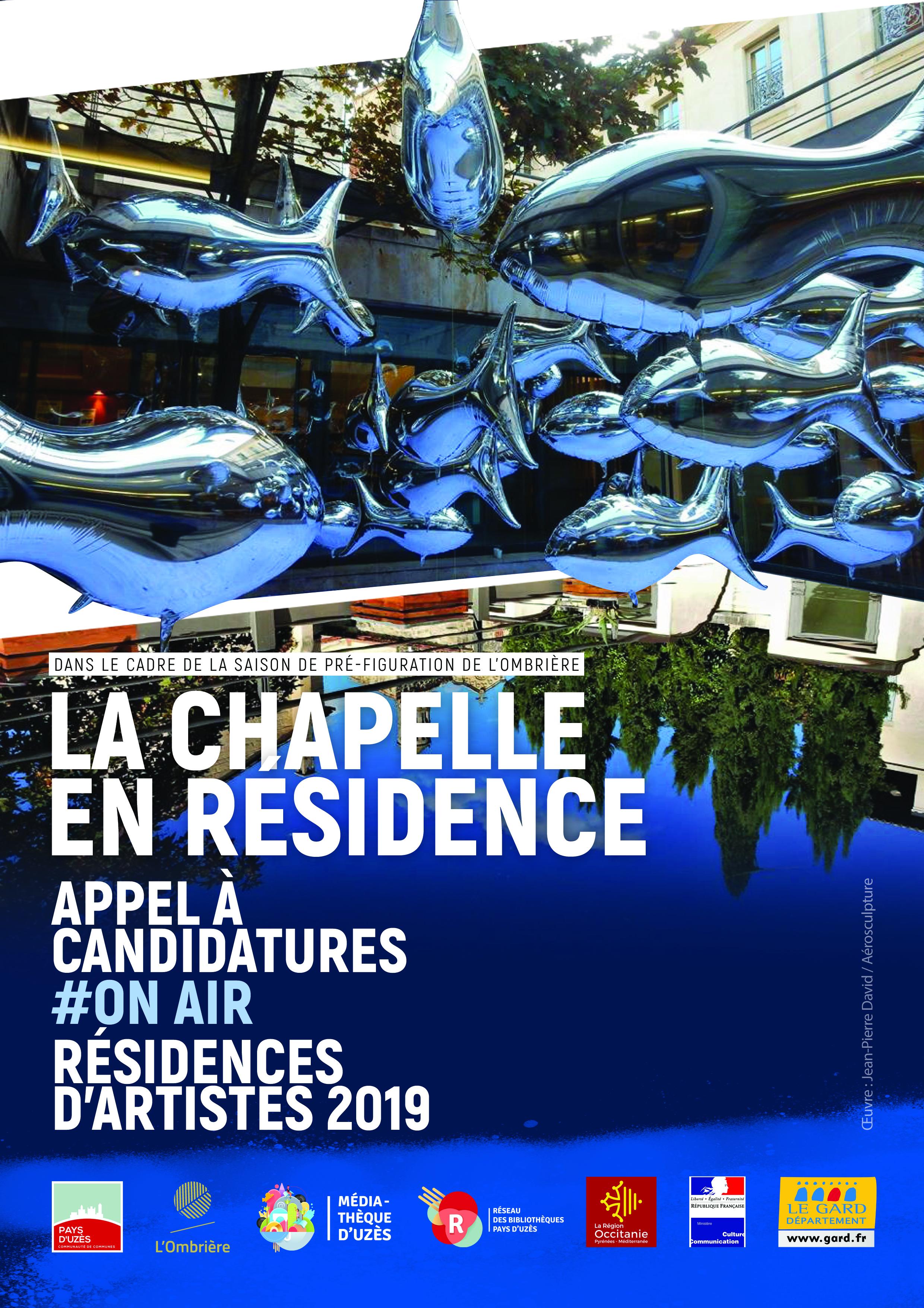 Appel à candidatures 2019 - Résidence d'artistes - Chapelle de la médiathèque d'Uzès