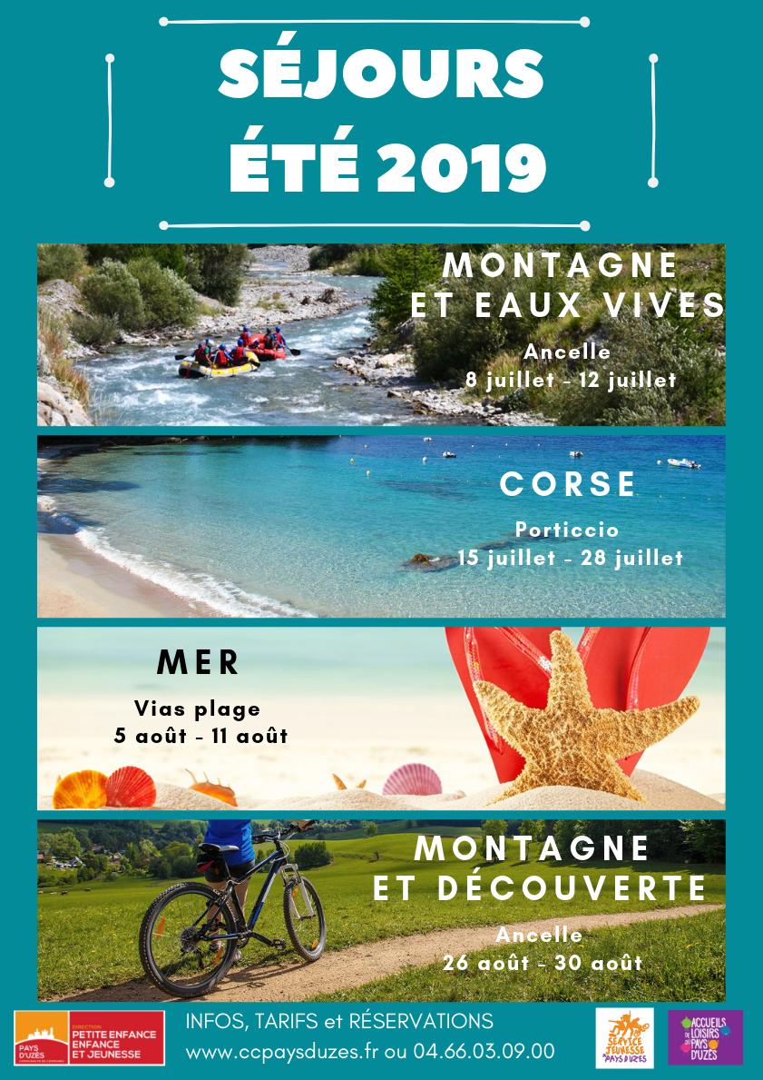 Séjours Été 2019