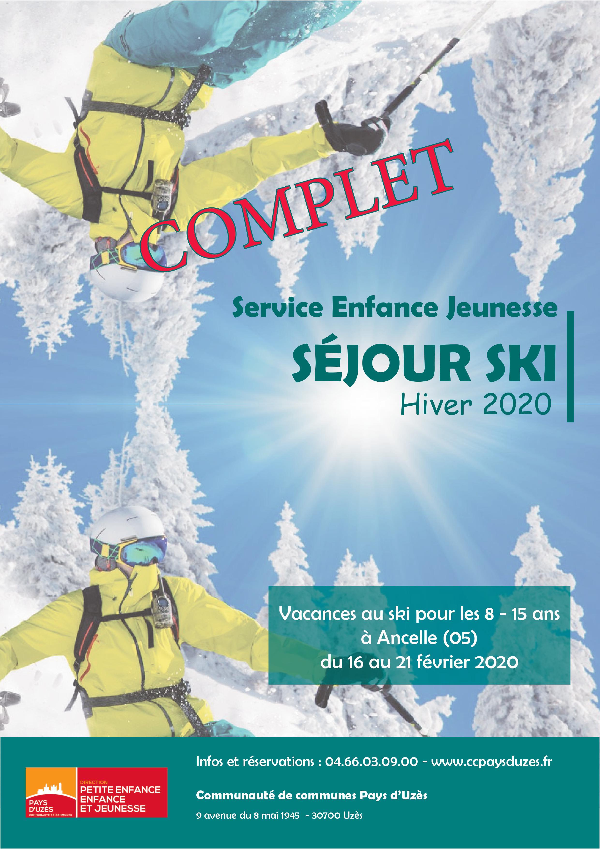 Séjour au ski 2020