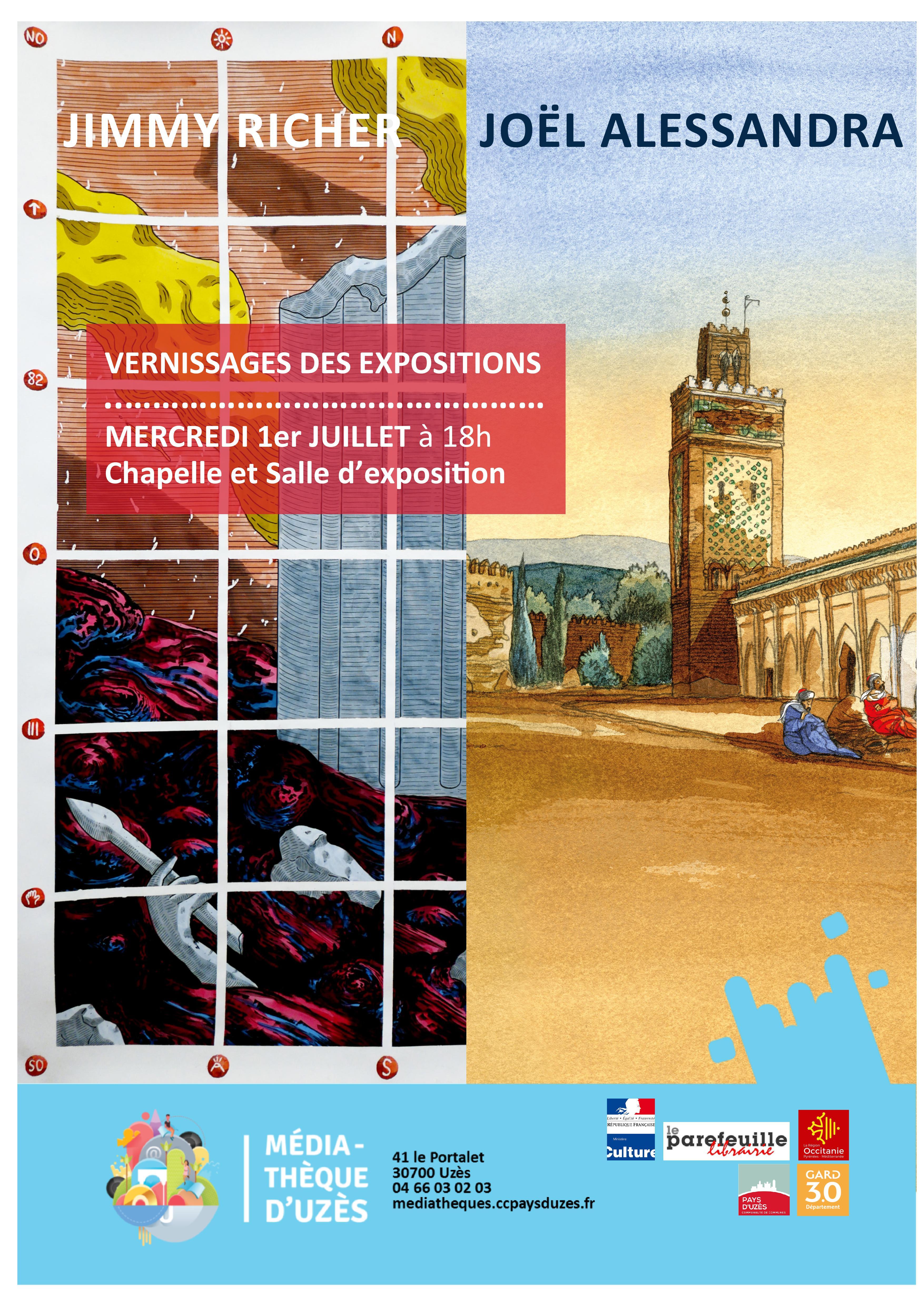 Vernissages / Expositions Médiathèque Uzès
