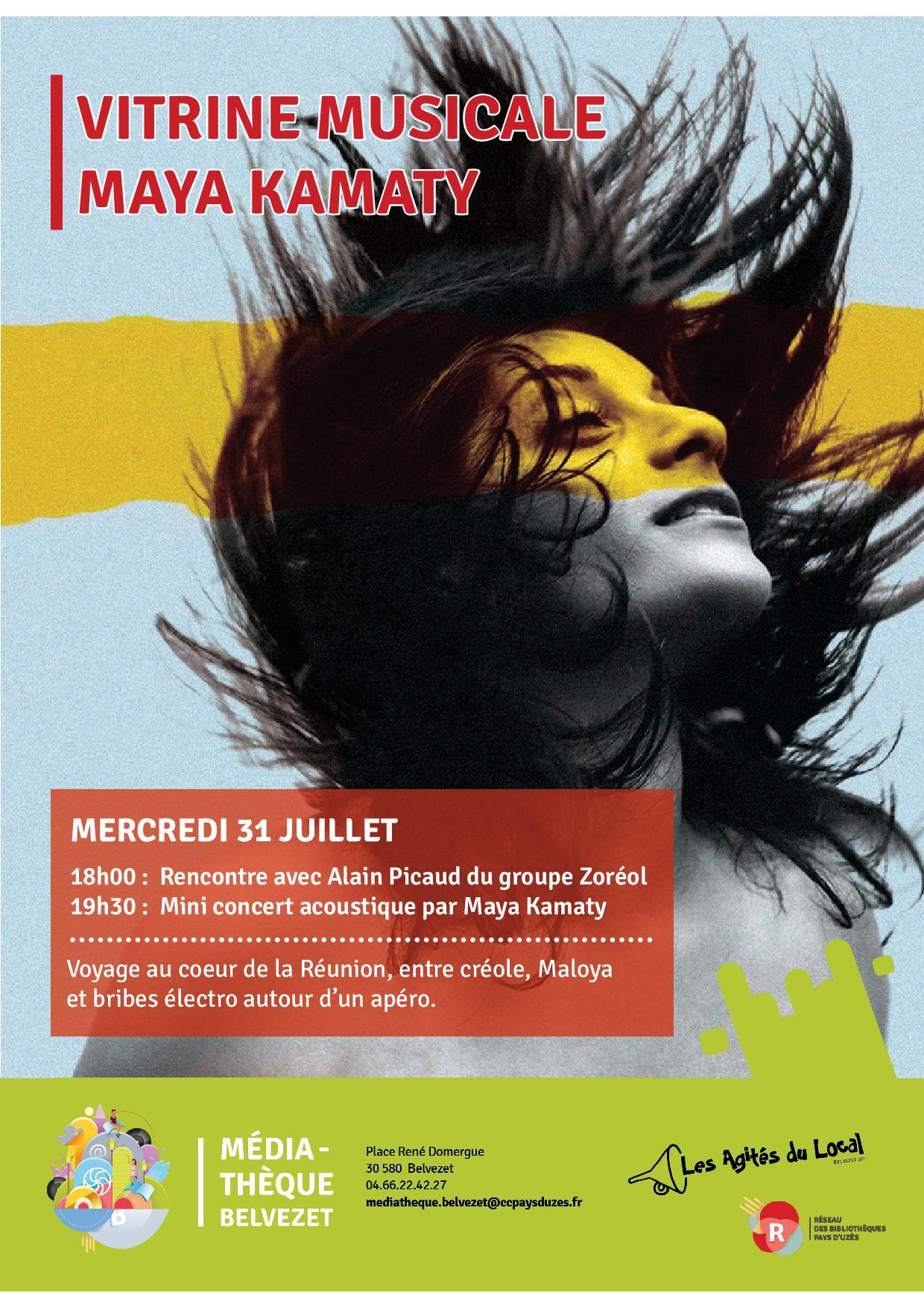 Vitrine musicale Maya Kamaty