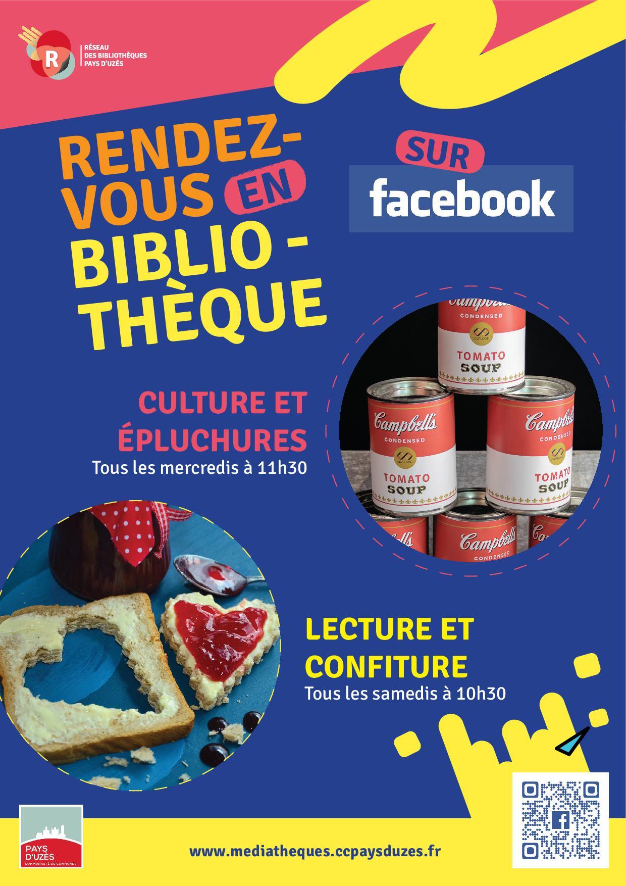 Vos rendez-vous en bibliothèques sur Facebook