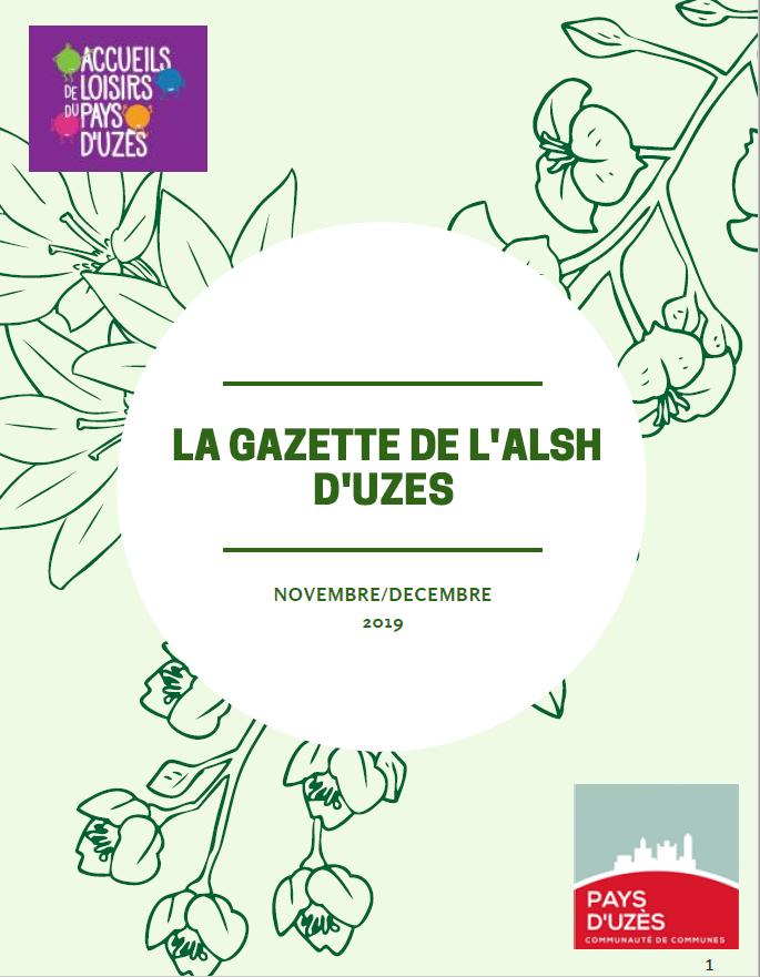 La Gazette de l'Alsh d'Uzès -  Nov/Déc 2019